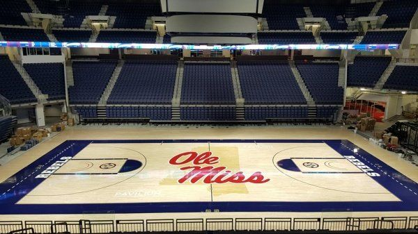 ole miss gym floor from side seating