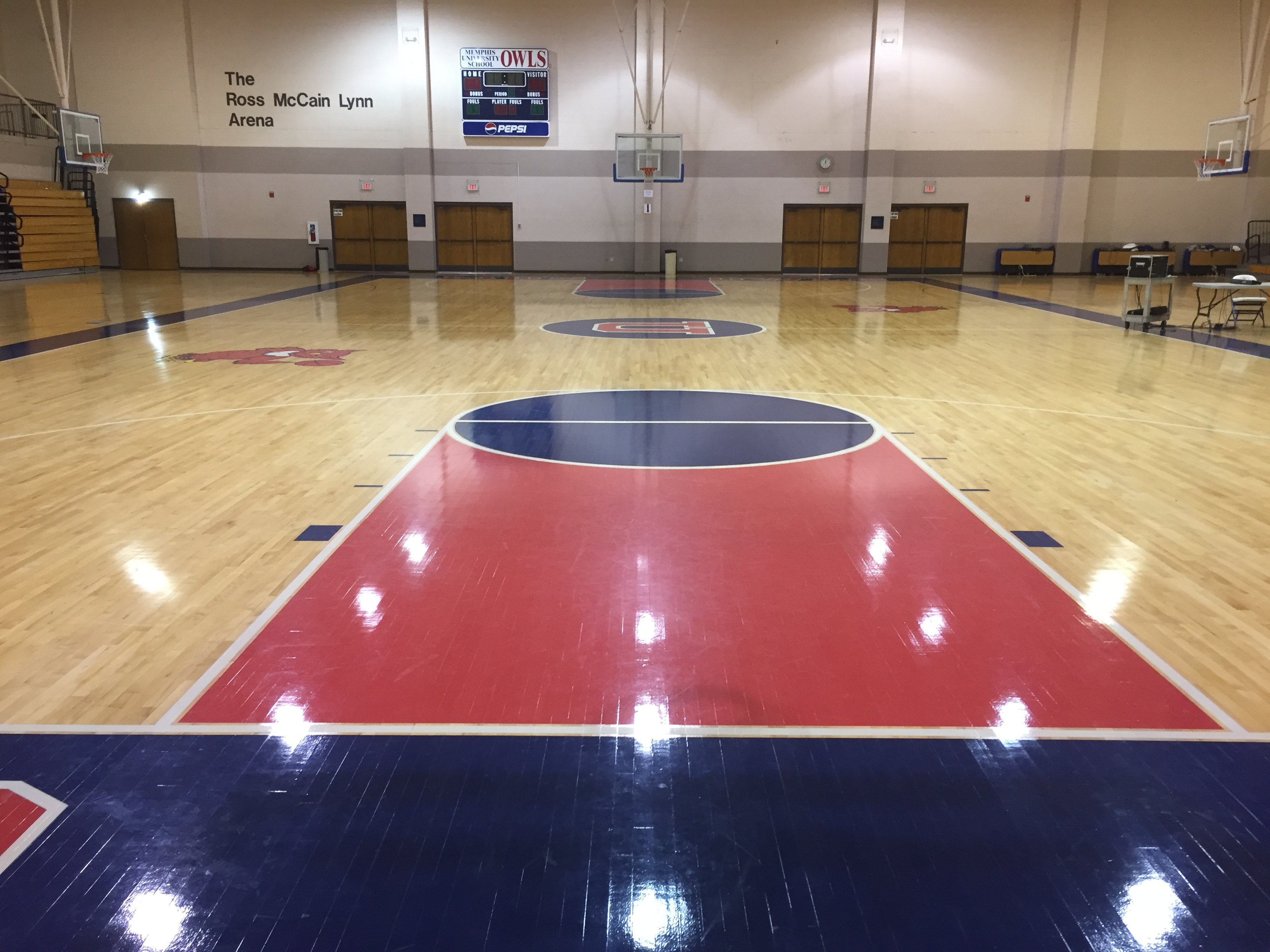Memphis University School Basketball Flooring Sports